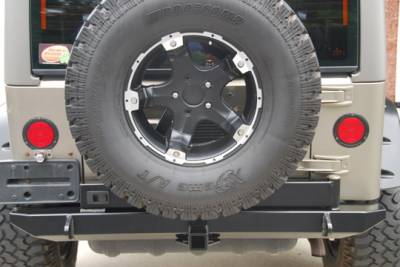 Wrangler - Rear Bumper - Hyline Offroad - Jeep Wrangler Hyline Tire Carrier Ready Rear Bumper Assembly - TJ-YJ-20SRBT