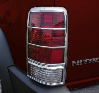 Headlights & Tail Lights - Tail Light Covers - Putco - Dodge Nitro Putco Taillight Covers - 400892