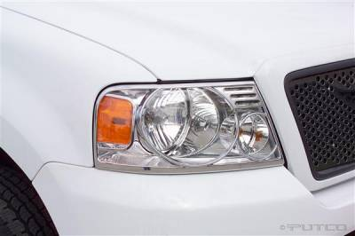 Headlights & Tail Lights - Headlight Covers - Putco - Lincoln Mark Putco Headlight Covers - 401201