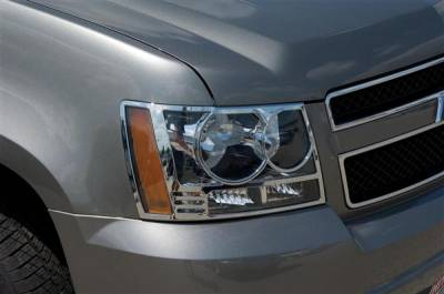 Headlights & Tail Lights - Headlight Covers - Putco - Chevrolet Avalanche Putco Headlight Covers - 401206