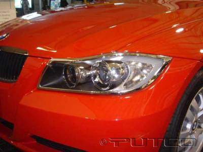 Headlights & Tail Lights - Headlight Covers - Putco - BMW 3 Series Putco Headlight Covers - 401212