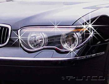 Headlights & Tail Lights - Headlight Covers - Putco - BMW 7 Series Putco Headlight Covers - 401217