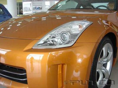 Headlights & Tail Lights - Headlight Covers - Putco - Nissan 350Z Putco Headlight Covers - 401229