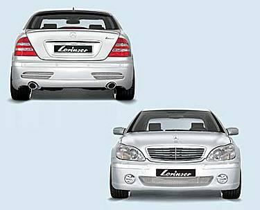 S Class - Rear Lip - Lorinser - W220 Edition Rear Bumper