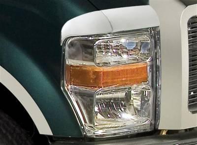 Headlights & Tail Lights - Headlight Covers - Putco - Ford F250 Superduty Putco Headlight Covers - 401262