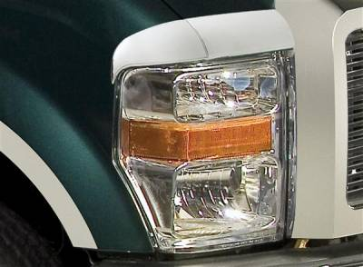 Headlights & Tail Lights - Headlight Covers - Putco - Ford F350 Superduty Putco Headlight Covers - 401262