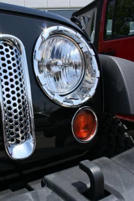 Headlights & Tail Lights - Headlight Covers - Putco - Jeep Wrangler Putco Headlight Covers - 401270