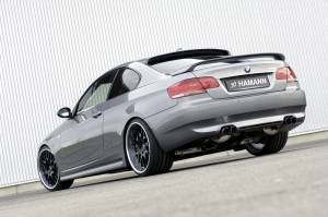 Body Kits - Rear Lip - Hamann - E92 Rear Add On Center Molding w/ Twin Dual Cut Out