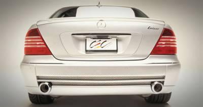 S Class - Rear Lip - Lorinser - W220 F1 Rear Bumper w/ Parktronic