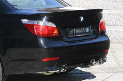 5 Series - Rear Lip - Hamann - Rear Apron Add On w/ Diffuser for Twin-Dual Cut Out Sedan