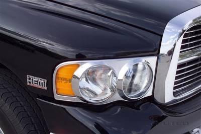 Headlights & Tail Lights - Headlight Covers - Putco - Dodge Ram Putco Headlight Covers - 402202