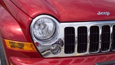 Headlights & Tail Lights - Headlight Covers - Putco - Jeep Liberty Putco Headlight Covers - 402203