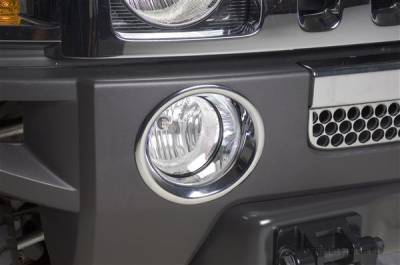 Headlights & Tail Lights - Fog Lights - Putco - Hummer H3 Putco Foglight Cover - 402312