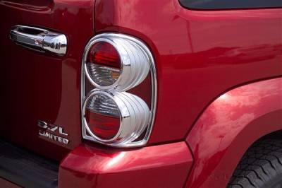 Headlights & Tail Lights - Tail Light Covers - Putco - Jeep Liberty Putco Taillight Covers - 402803
