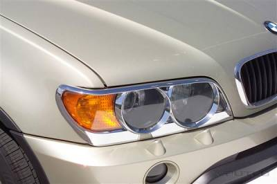 Headlights & Tail Lights - Headlight Covers - Putco - BMW X5 Putco Headlight Covers - 403203