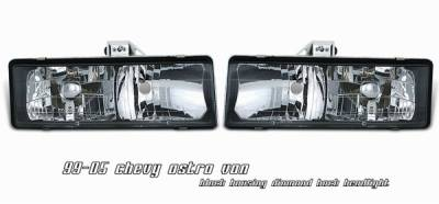 Headlights & Tail Lights - Headlights - OptionRacing - Chevrolet Astro Option Racing Headlight - 10-15113