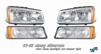 Headlights & Tail Lights - Headlights - OptionRacing - Chevrolet Silverado Option Racing Headlight - 10-15129