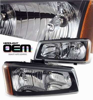 Headlights & Tail Lights - Headlights - OptionRacing - Chevrolet Silverado Option Racing Headlight - 10-15132