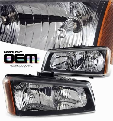 Headlights & Tail Lights - Headlights - OptionRacing - Chevrolet Silverado Option Racing Headlight - 10-15133