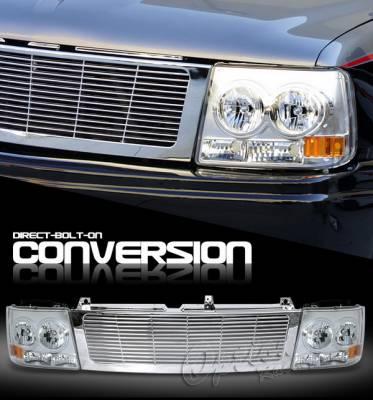 Headlights & Tail Lights - Headlights - OptionRacing - Chevrolet Silverado Option Racing Headlights - Chrome & Chrome - 10-15258