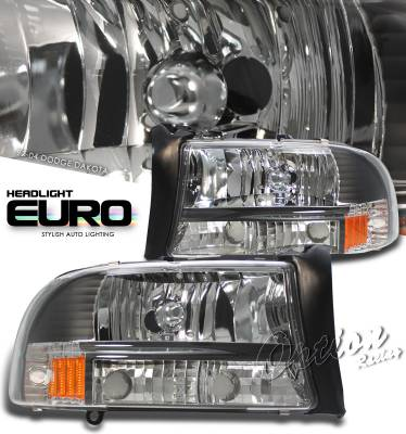 Headlights & Tail Lights - Headlights - OptionRacing - Dodge Dakota Option Racing Headlight - 10-17142