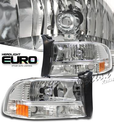 Headlights & Tail Lights - Headlights - OptionRacing - Dodge Dakota Option Racing Headlight - 10-17143