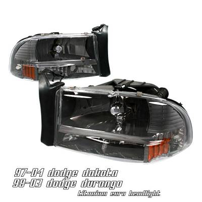 Headlights & Tail Lights - Headlights - OptionRacing - Dodge Dakota Option Racing Headlight - 10-17144