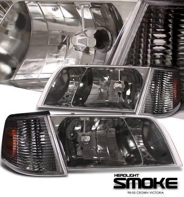 Headlights & Tail Lights - Headlights - OptionRacing - Ford Crown Victoria Option Racing Headlight - 10-18152