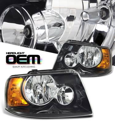 Headlights & Tail Lights - Headlights - OptionRacing - Ford Expedition Option Racing Headlight - 10-18155