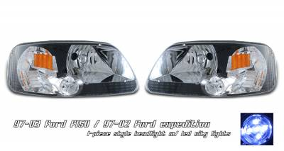 Headlights & Tail Lights - Headlights - OptionRacing - Ford Expedition Option Racing Headlight - 10-18159