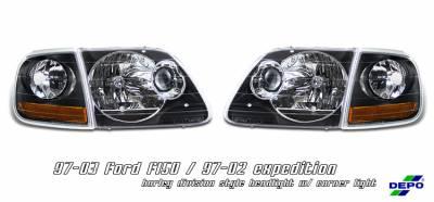 Headlights & Tail Lights - Headlights - OptionRacing - Ford Expedition Option Racing Headlight - 10-18167