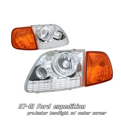 Headlights & Tail Lights - Headlights - OptionRacing - Ford Expedition Option Racing Headlight - 10-18170