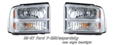 Headlights & Tail Lights - Headlights - OptionRacing - Ford F250 Option Racing Headlight - 10-18173