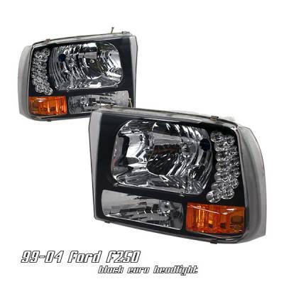 Headlights & Tail Lights - Headlights - OptionRacing - Ford F250 Option Racing Headlight - 10-18175