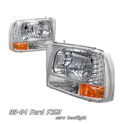 Headlights & Tail Lights - Headlights - OptionRacing - Ford F250 Option Racing Headlight - 10-18176