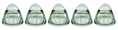 Headlights & Tail Lights - Roof Lights - In Pro Carwear - Dodge Ram IPCW LED Cab Roof Lights with Chrome Base - 5PC - LEDR-401