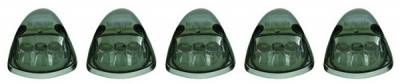 Headlights & Tail Lights - Roof Lights - In Pro Carwear - Dodge Ram IPCW LED Cab Roof Lights with Chrome Base - 5PC - LEDR-401S