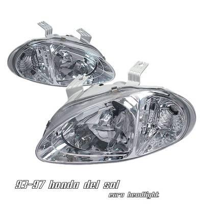 Headlights & Tail Lights - Headlights - OptionRacing - Honda Del Sol Option Racing Headlight - 10-20209