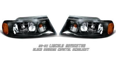 Headlights & Tail Lights - Headlights - OptionRacing - Lincoln Navigator Option Racing Headlight - 10-30217