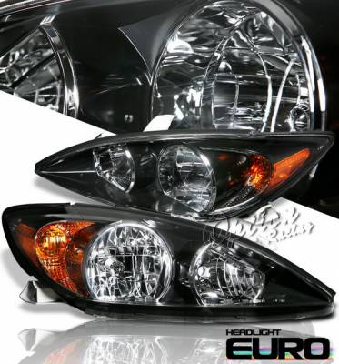Headlights & Tail Lights - Headlights - OptionRacing - Toyota Camry Option Racing Headlights - Black - 10-44284
