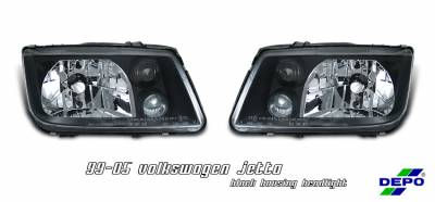 Headlights & Tail Lights - Headlights - OptionRacing - Volkswagen Jetta Option Racing Headlight - 10-45244