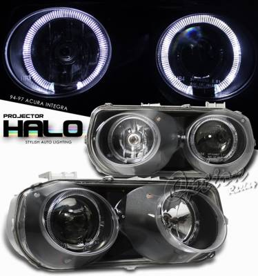 Headlights & Tail Lights - Headlights - OptionRacing - Acura Integra Option Racing Projector Headlight - 11-10101