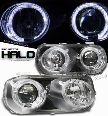 Headlights & Tail Lights - Headlights - OptionRacing - Acura Integra Option Racing Projector Headlight - 11-10102