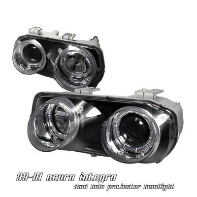 Headlights & Tail Lights - Headlights - OptionRacing - Acura Integra Option Racing Projector Headlight - 11-10104
