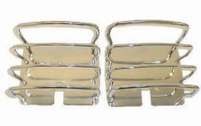 Headlights & Tail Lights - Tail Lights - Omix - Rugged Ridge Euro Guard Kit - Tail Light Guard - Stainless Steel - 11103-01