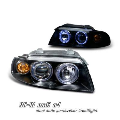 Headlights & Tail Lights - Headlights - OptionRacing - Audi A4 Option Racing Projector Headlight - 11-11106