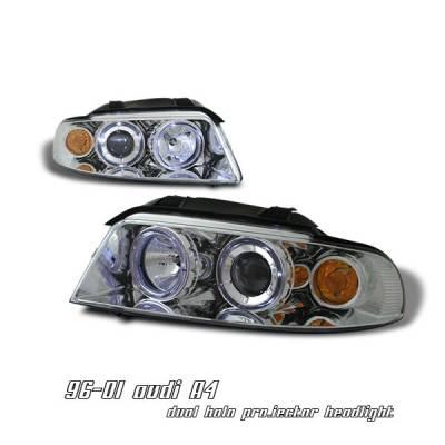 Headlights & Tail Lights - Headlights - OptionRacing - Audi A4 Option Racing Projector Headlight - 11-11107