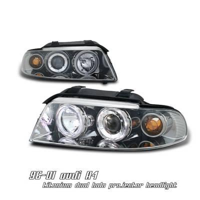 Headlights & Tail Lights - Headlights - OptionRacing - Audi A4 Option Racing Projector Headlight - 11-11108