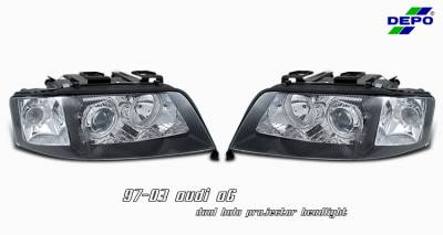 Headlights & Tail Lights - Headlights - OptionRacing - Audi A6 Option Racing Projector Headlight - 11-11109