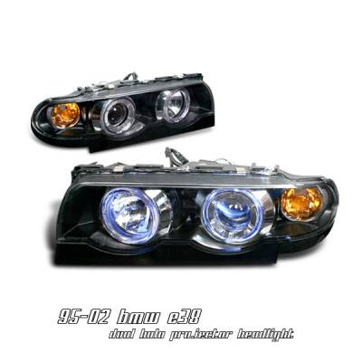 Headlights & Tail Lights - Headlights - OptionRacing - BMW 7 Series Option Racing Projector Headlight - 11-12114